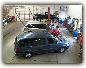 oil changes, brake jobs, tires, mufflers, engines, transmissions, fuel injections, oil changes, belts, hoses, tuneups, batteries, shocks, struts and whatever your car needs!